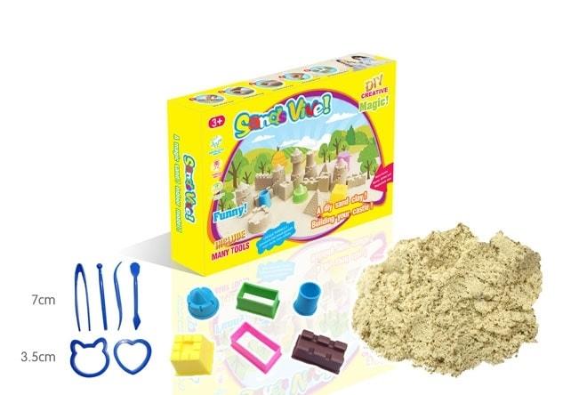 Kouzelný písek 300g / 750g - Kouzelný písek - 300 g - 6 ks malý hrad a 6 ks nářadí
